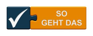 Puzzle-Button blau orange: So geht das